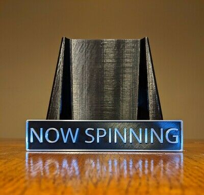 Now Spinning Vinyl Record Stand - Designed for Full Size LP Covers - Wall Mount