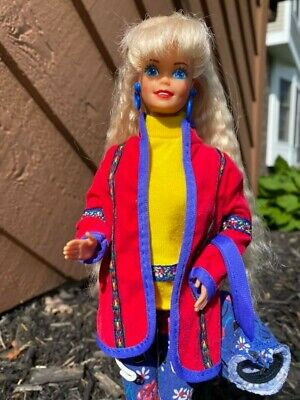 United Colors of Benetton Barbie Doll #9404 1990 Mattel Vintage Deboxed