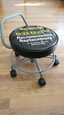 Unique Monroe Shocks and Struts Roller Seat Shop Mechanic Stool Creeper COOL!