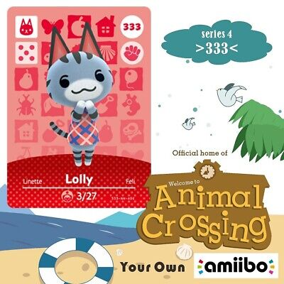 #333 Lolly New Animal Crossing Amiibo Villager Game Card New Horizons #Series 4