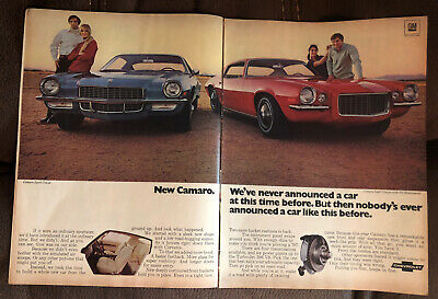 1970 Chevrolet Camaro  Ad RS Sport Coupe Print Ad