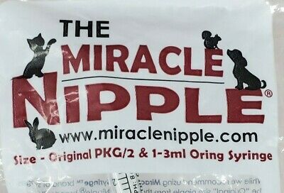 Miracle Nipple For Pets and Wildlife 2 Pack