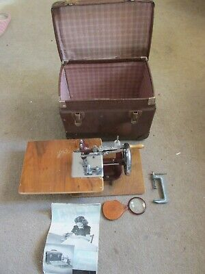 Essex Miniature Sewing Machine Very Rare Vintage With Case and Instructions