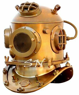 "18"" Vintage Brass Antique Scuba Divers Diving Helmet Morse Diving Helmet Decor"