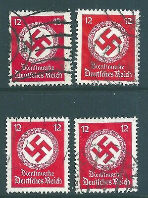GERMANY THIRD REICH Official  Swastika stamps.
