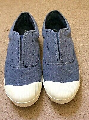Marks and Spencer boys blue denim pumps EU 38 UK size 5