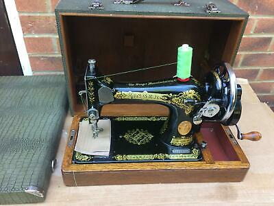 1926 Vintage Singer 28, 28K handcrank sewing machine with For LEATHER