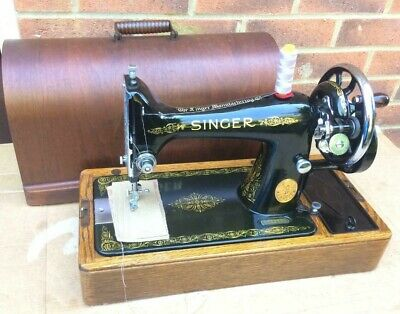 1939 Vintage Singer 99, 99K handcrank sewing machine with For LEATHER
