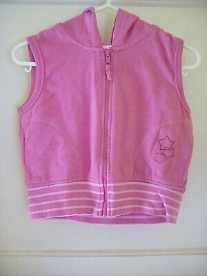 Girls Cropped Pink Sleeveless Zip Up Hoody MATALAN Age 9 10 11 Years