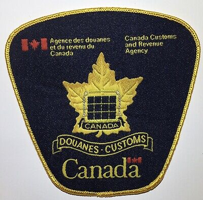 CANADA CUSTOMS AND REVENUE AGENCY (CCRA) Obsolete Police Patch
