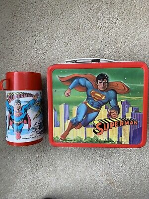 Superman 1978 Vintage Lunch Box W/thermos