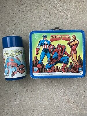 Secret Wars And All Marvel Characters 1984 Lunch Box