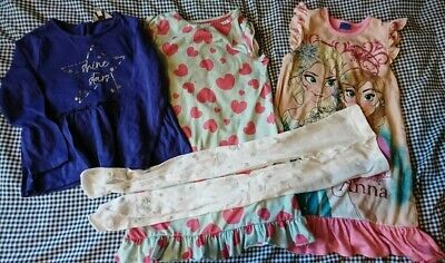 Girls Clothes 4 to 5 years nighties and a top and a brand new pair of tights