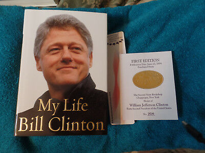 President Bill Clinton  Autographed hard cover book 1st Edition  #1404 My Life