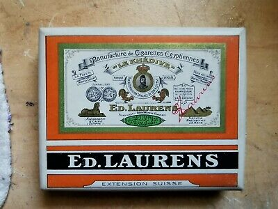 Boite a cigarettes full pleine ED.LAURENS Khédive Orange Extension Suisse tabac
