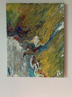ORIGINAL Acrylic Painting On Canvas(colorful abstract)