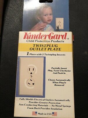 Lot Of 5 KinderGard  Twistplug Outlet Plates #1501 Vintage 1987 -Made In The USA