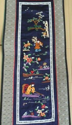 Chinese 100%Hand embroidered Peking Embroidery Art:figures painting screen