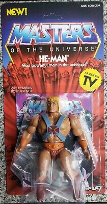 He-Man Masters of the Universe He-Man Figure Super 7 Mattel Unpunched 6""