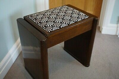 Art Deco stool chair hidden storage hallway dressing table piano seat desk