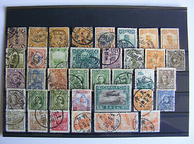 CHINA  Lot STAMPS - Used on card - (A10)