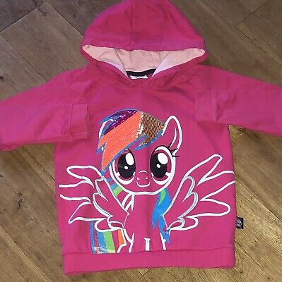 Girls Tu My Little Pony Hoodie In Pink Age 6-7 Years