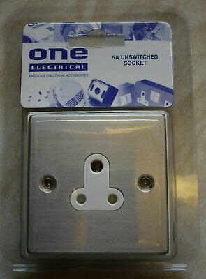 50 x 5A Round Pin Unswitched Sockets Job Lot