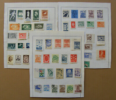 CHINA  Lot Stamps on 2 pages - Used and NOT USED - Hinged - (A54)