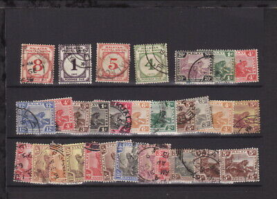 MALAYA FEDERATED MALAY STATES TIGERS some POSTAL UNION STAMPS – GOOD USED