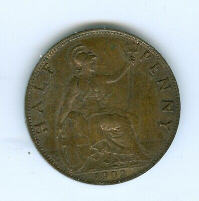 Great Britain 1902 Half Penny--Circulated