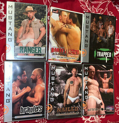 LOT DE 6 DVD POUR ADULTES GAY Mustang.