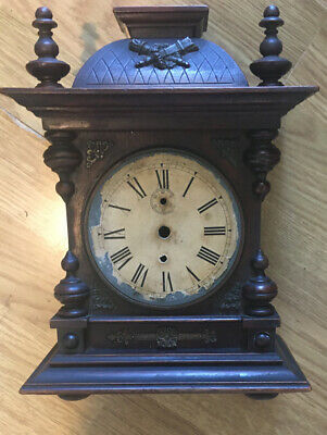 Vintage Mantle Clock With Parts For Clockmakers Repair