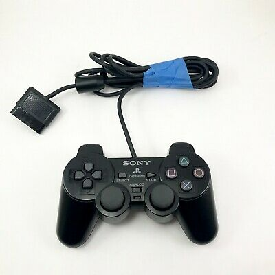 Sony Playstation 2  Controller SCPH-10010 PS2 Black Genuine Original