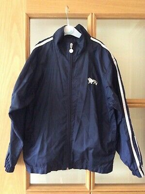 Lonsdale, Boys, Navy Showerproof Lightweight Jacket with hood, Age 9-10 years.