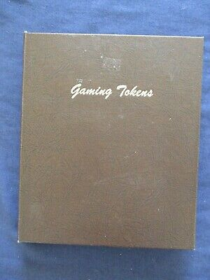 Lot Collection 54 Casino Gaming Tokens 1960s-90s in Dansco Album Mostly Nevada