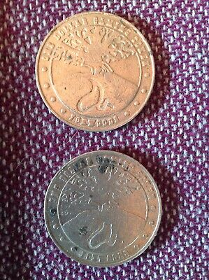 Two Vtg Foxwoods Casino One Dollar Gaming Tokens