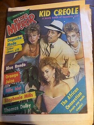Record Mirror 21 Aug 1982 . Kid Creole & The Coconuts Front Cover . Not Nme