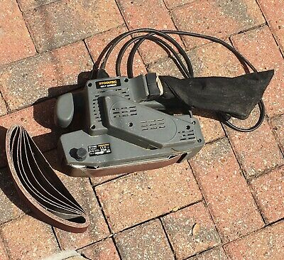 Tooltec. 230V Belt Sander, 800W With 6 Extra Sanding Belts. Used Condition.