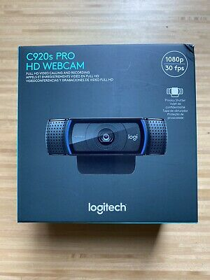 Logitech C920s Pro HD 1080p Webcam with Privacy Shutter Free USPS Priority Ship