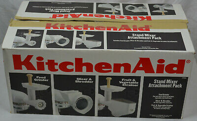KitchenAid FPPA Attachment Pack for Stand Mixers Food Grinder Slicer Shredder