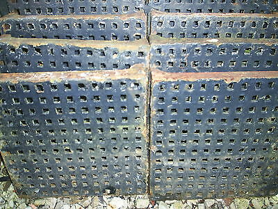 Large Original Cast Iron Air Vent. Grid / Metal Grate 1ft x 1ft Reclaimed