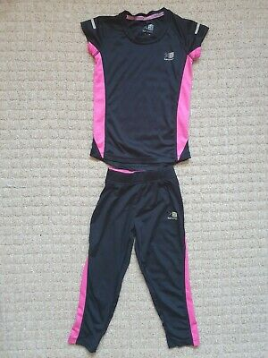 Girls Age 7-8 Years KARRIMOR running Gym Leggings & Top Sport Outfit