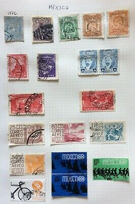 Mexico Older Stamps From 1886 Onwards On A Album Page