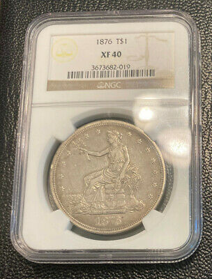 1876-P NGC XF40 Trade Dollar, Nice Original Coin, No Reserve