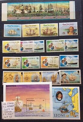 Ships On Stamps Commonwealth 22+2 Miniature Sheets Unmounted Mint (Lot S/01)