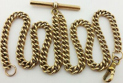Long Antique Rolled Gold Albert Pocket Watch Chain Neck Chain 21 Inches