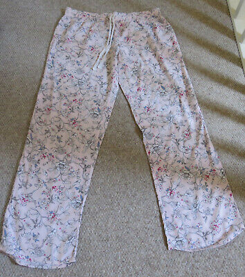 Super Soft Pink Viscose Pj Bottoms Size 10-12 Primark Love To Lounge
