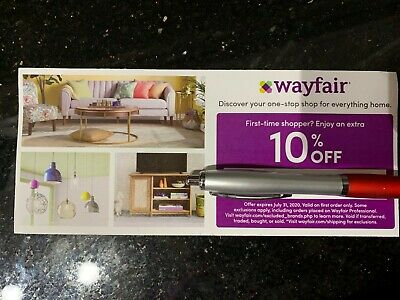 Wayfair 10% off ENTIRE purchase exp 7/31/2020, Valid on FIRST ORDER only