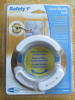 Safety 1St. Lever Handle Lock, #48400A.  New In Package.