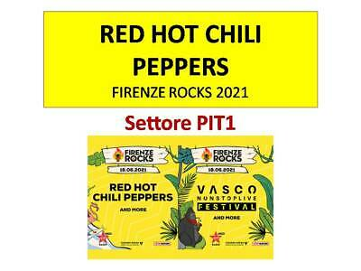 x2 Coppia di biglietti tickets PIT1-RED HOT CHILI PEPPERS- Firenze Rocks 2021